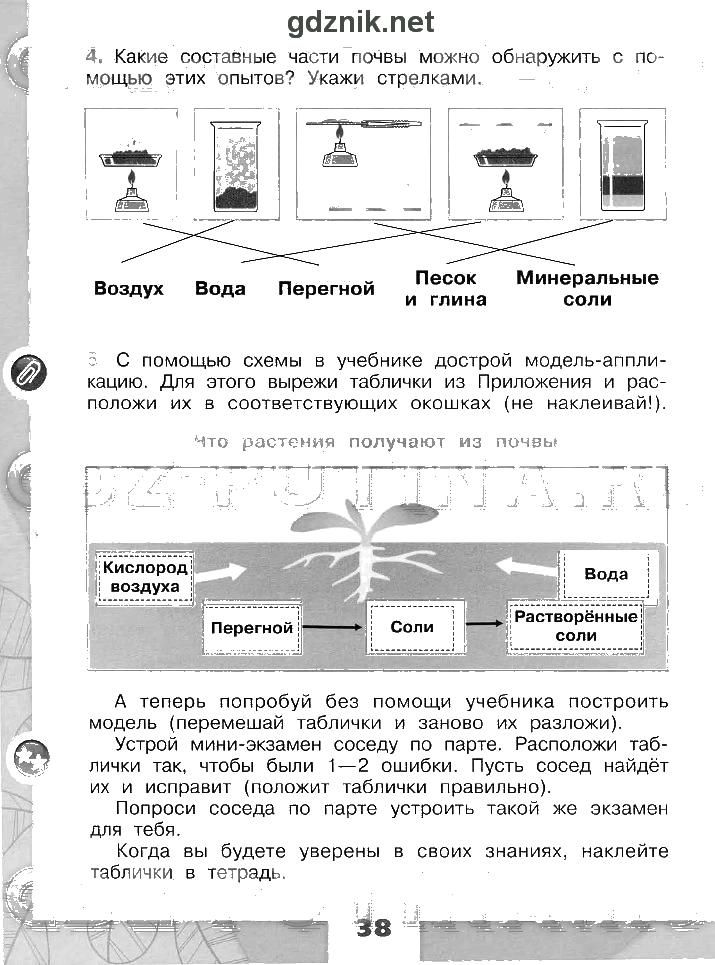 3 класс тетрадь домашние рабочая готовые задания плешакова